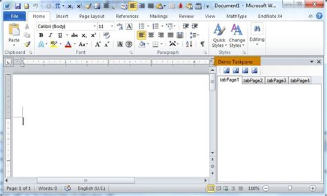 word 2010 templates and add ins add a custom taskpane to word 2010 using c xinyustudio