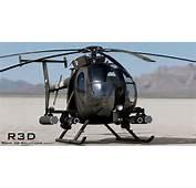 MH 6 Little Bird Gunship 3D Model Max Obj 3ds Fbx C4d Skp