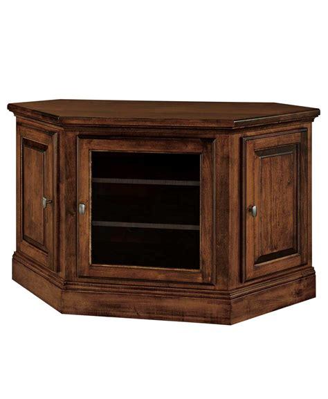 Corner Tv Cabinets With Doors Kincade 3 Door Corner Tv Stand Amish Direct Furniture