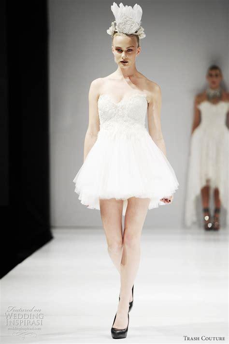 trash couture wedding dresses spring  black swan