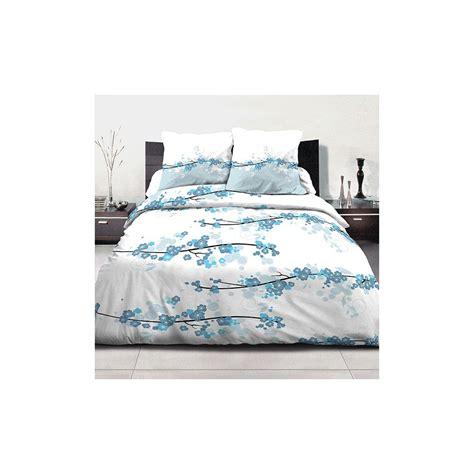 Parure De Couette by Achat Parure De Couette Coton 220x240 Cm Miss Fleurs Bleu