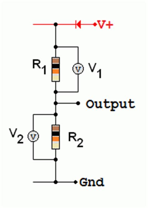 voltage divider circuit pull up resistor voltage dividers