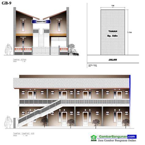 desain depan rumah kontrakan 93 desain rumah kost memanjang pandangan ini dari