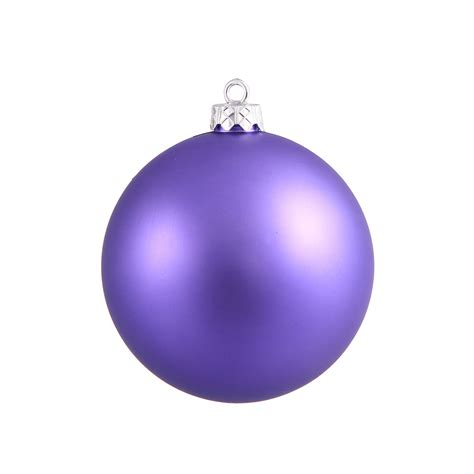 purple ball ornaments 4 quot matte set of 6