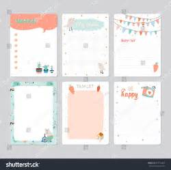 Cute Planner Templates Cute Calendar Daily Planner Template 2016 Stock Vector