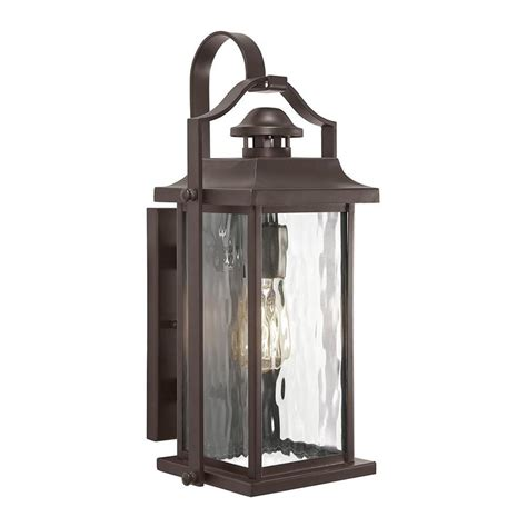 lowes outdoor light fixtures shop kichler linford 17 24 in h olde bronze outdoor wall