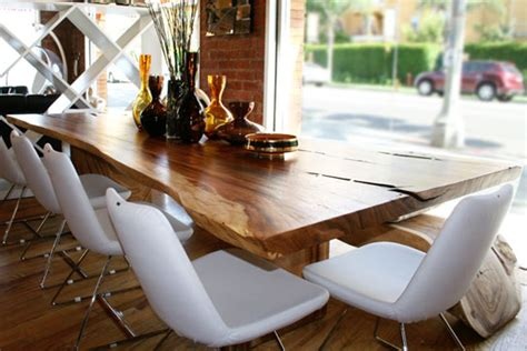 modern wood slab dining table wood slab dining tables take em or leave em