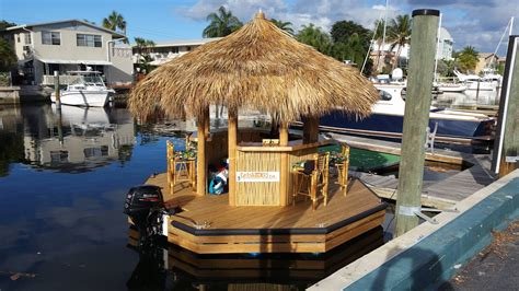 Floating Tiki Hut Cruisin Tikis Floating Tiki Bars Available For Rent In