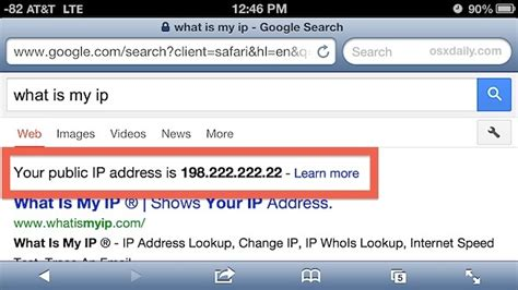 External Ip Address Lookup Seriously The Fastest Way To Get The Cellular Ip Of An Iphone Iphone