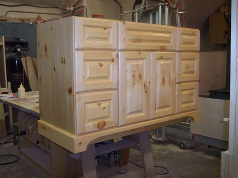 Unfinished Pine Bathroom Vanity by Unfinished Knotty Pine Bathroom Cabinets Bathroom