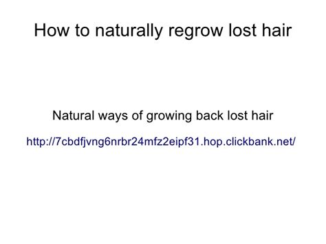 can lost hair be grown back nicehair how to naturally regrow lost hair