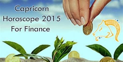 capricorn finance horoscope 2015