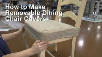 How To Make Seat Cushions For Dining Room Chairs How To Make Removable Dining Chair Covers Youtube