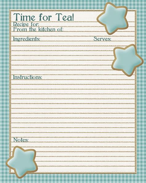 free printable recipe page template 5 best images of free printable page recipe templates