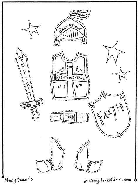 Armor For Kids Draw Body Cut Out Cover With Each Piece Armour Of God Coloring Page