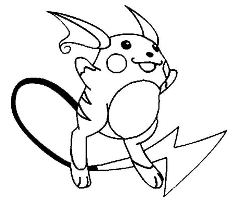 chibi raichu pokemon coloring pages coloring pages