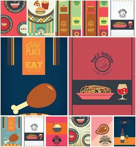 cafe design templates fine dining menu template set vector free download