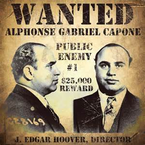 Al capone wanted poster canvas print by vintage apple collection