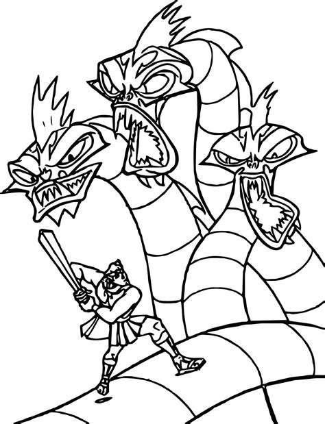 coloring pages of fighting knights hercules dragon fight coloring pages wecoloringpage
