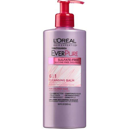 best sulfate free shoo for colored hair l oreal hair expertise everpure cleansing balm for