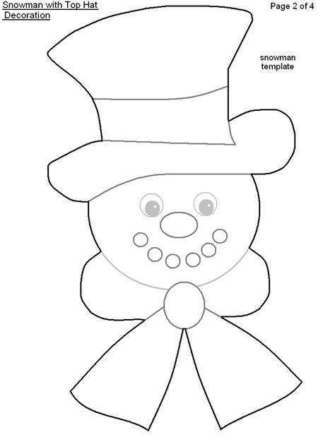 printable snowman hat template myideasbedroom com