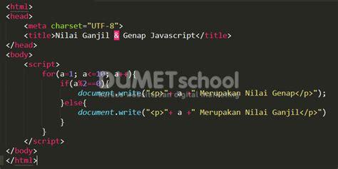 55 Tips Mempercantik Website Dengan Javascript cara menentukan nilai ganjil dan genap dengan javascript kursus web design