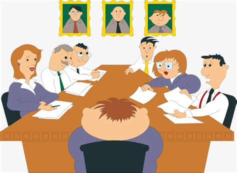 imagenes de carteleras informativas de empresas cartoon company staff material woman briefing meeting