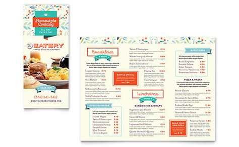 tri fold menu templates word publisher