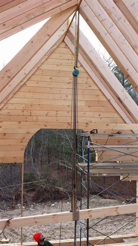 rafter roof system log home  construction