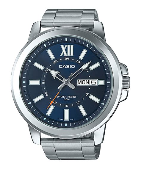 Casio Ion Plated Mtp X100d 2avdf by Mtp X100 Collection Black Blue Gold White