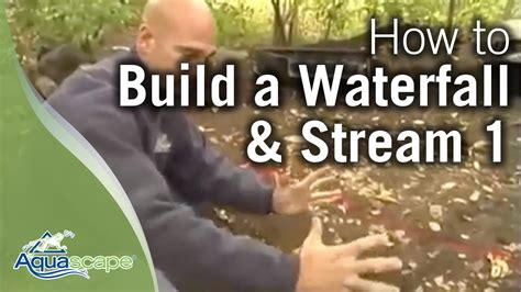 how to build a backyard stream how to build a waterfall and stream part 1 youtube