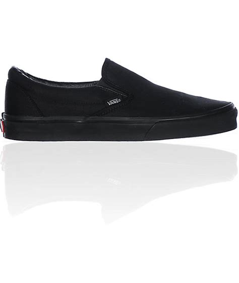 vans all black slip on skate shoes mens at zumiez pdp