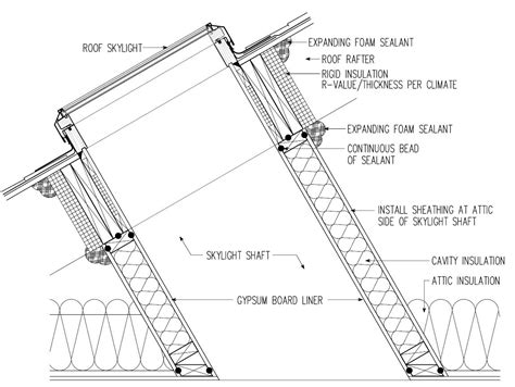 insulation diagram skylight shaft insulation structure tech home inspections