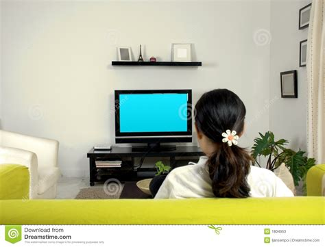 Red Living Room by Women Watching Television Stock Photos Image 1804953