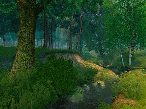 nature  screensavers summer forest set  camp