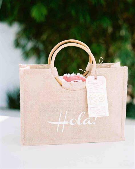 wedding guest bags 80 welcome bags from real weddings martha stewart weddings