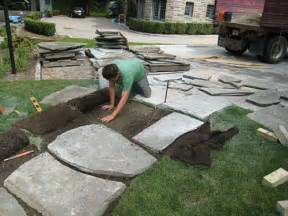 how to install a flagstone path in a lawn landscapeadvisor