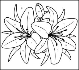 printable color by number flowers free printable coloring pages by numbers 2015