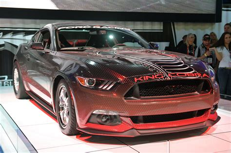 sema 2014 2015 ford mustang king cobra concept mustangs