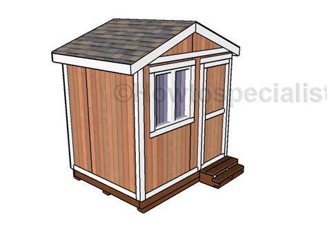 6x8 Shed Plans Free by 6x8 Small Garden Shed Plans Howtospecialist How To