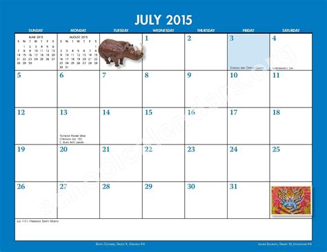 2014 2015 School Calendar Monthly Handbook Frederick 2014 2015 Monthly Calendar