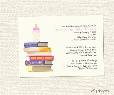 Books To Give At Baby Shower by Baby Shower Book Invitation Theruntime
