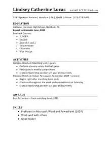 Resume Tips For Highschool Students With No Experience 10 Sample Resume For School Teens Resume Exampl Sample