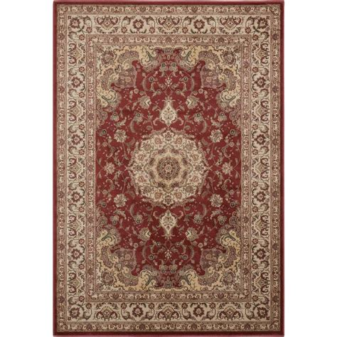 Area Rugs Overstock Nourison Overstock Ararat Burgundy 3 Ft 9 In X 5 Ft 9 In Area Rug 341549 The Home Depot