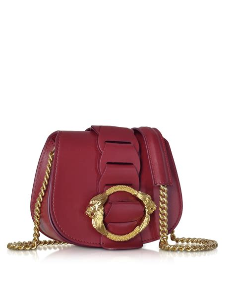 Roberto Cavalli Whipstitched Leather Purse by Lyst Roberto Cavalli Small Leather Shoulder Bag In