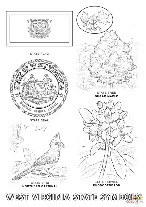 printable coloring pages virina west virginia state symbols coloring page free printable