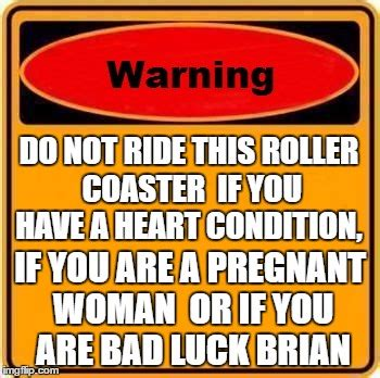 libro rollercoasters the sign of roller coaster warning sign imgflip