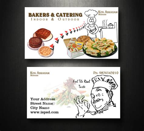 business cards templates for catering catering business card psd printriver 169