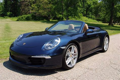 The Car Convertible Navy Blue Porsche