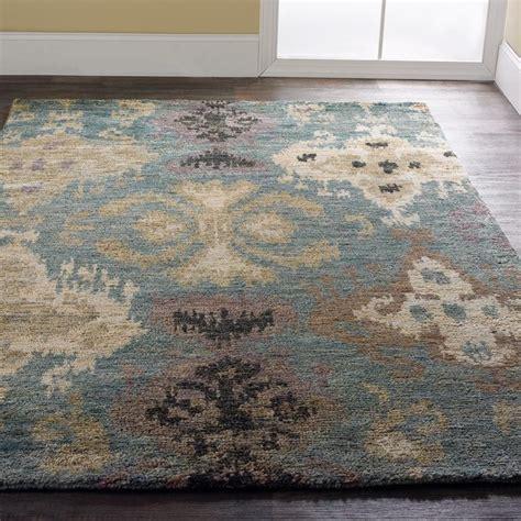 aqua ikat brushed jute rug jute rug colors and ikat pattern